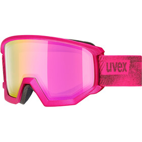 UVEX Athletic FM Gogle, pink mat/fullmirror pink